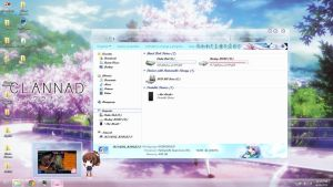 Clannad Desktop Wallaper + Theme link to download by Mordecai-Fan