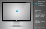 Windows 8 Minimal Wallpaper by sabrefresco