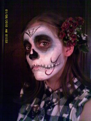 Day of The Dead Makeup. by 0-VoodooDoll