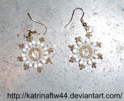 White mandala star earings by KatrinaFTW44