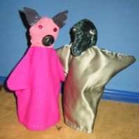 Pig and Alligator by puppetry