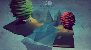 Low Poly Nature on Paper. by pyxArtz