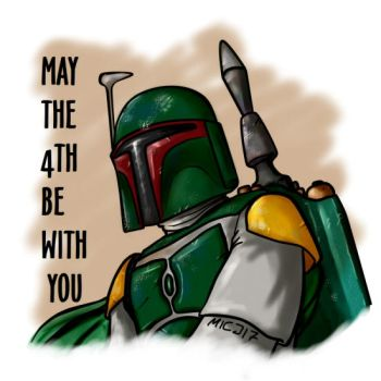 May the 4th be with you (Boba Fett) by marinaizarne
