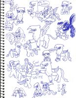 My Little Sketch Dump 8 by SonicUnbelieveable