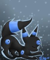 The Shiny Umbreon by echotheglaceon