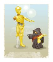 C3-Po and Jawa Vector Series by HD01