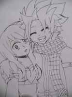 NaLu Lineart by 19flameprincess