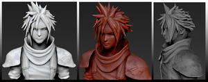 ZBrush in Cloud Strife by tetsuok9999