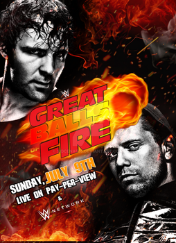 WWE Great Balls Of Fire 2017 Poster by SidCena555