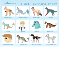 2014 Art Summary by Shiverice