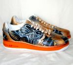 Tattoo punk skull air force 1 by augurlee
