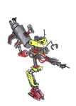Yellow and Red Robot by Super-Wooper
