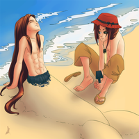 At the beach by MonStra4ka