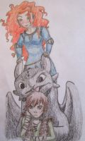 Mericup: Dragon Pile: Colored f. by quitfeedingurdragons