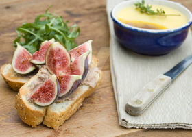 Figs and Chicken Liver Pate by iconsPhotography