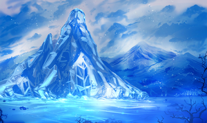 Blueheart Glacier by ryky