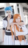Grimmjow and Orihime by cloeth