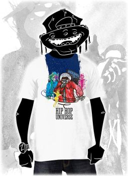 Hip Hop Universe T-Shirt by SaneaUreti