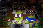 Tmnt And Fnaf by nycolys