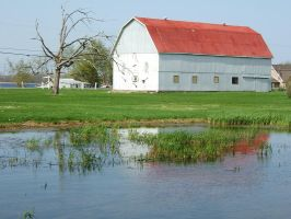 barn and pond 1 by kirastocks