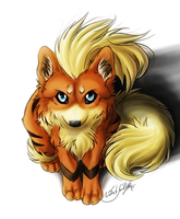 Growlithe-Arcanine Wolfversion by WhiteSpiritWolf