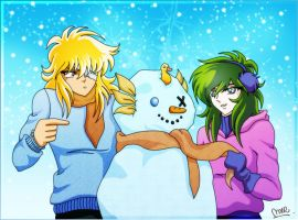 _Snowman_Hyoga_Shun_ by hiddenmuse