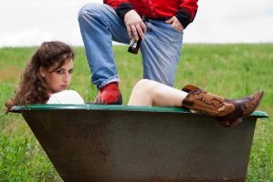 Red neck couple stock 1 by Random-Acts-Stock