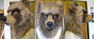 Bear head turnaround by Faol-bigbadwolf