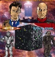 doctor who and star trek by MonsterIslandStudios