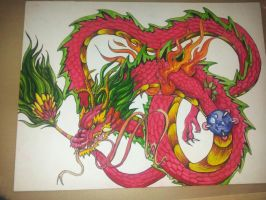 Dragon tattoo design~ by LookAliveHolly