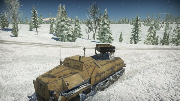 War Thunder - Panzerwerfer 42 in the snow by Panzerbyte