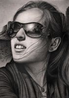 'SUNRISE' graphite drawing by Pen-Tacular-Artist