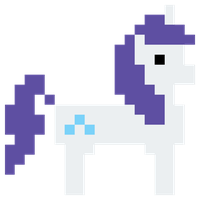 Rarity Hub 8 bit promo vector by Skeptic-Mousey