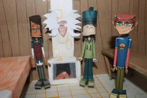 Noah, Harold and Ezekiel Total Drama Papercraft by ViluVector