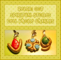 Spiritual Stones Cell Charms by querulousArtisan
