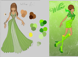 Contest entry : Willow's flower princess dress by NiaKoks