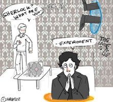 Sherlock/Portal Crossover. by superfizz