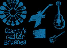 Charity's Guitar Brushes by sevynstarr