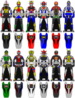 TRIAL - Secondary Main Megazords Zord key set by Zeltrax987