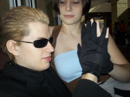 Wesker and Jill downtime by BlueEyesMaster