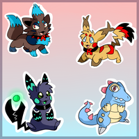 Pokemon Adoptables CLOSED by Thiefing