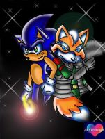 Sonic and StarFox by jayfoxfire
