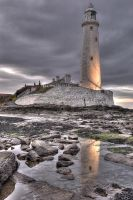St Marys Lighthouse HDR by 1-Professor-Chaos-1