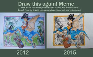 Draw this again! [Dragon Ball] by delPuertoSisters