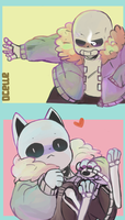 genocide sans-kitty sans by royudai