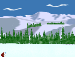 Winter Mountain scenery by liongirl2289