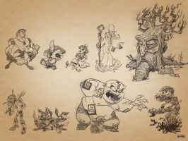 Fantasy Game Characters by kshiraj