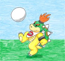 Bowser Jr playing football by Sedna93