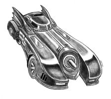 1989 Batmobile by MDTartist83