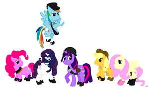 MLP TF2 the whole gang by Pinkamina-DianePie